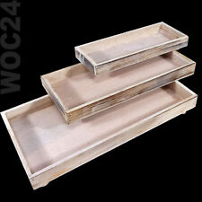 Dekoplatte Dekotablett Holz Tablett Deko Dekoration Shabby Vintage Creme Antik