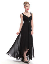 Ever Pretty Long V-neck Bridesmaid Dress Evening Party Gown Prom Dresses 09983 12 Black