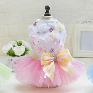 Small Pet Dog Cat Tutu Lace Dress Puppy Ballet Skirt Princess Apparel Clothes*