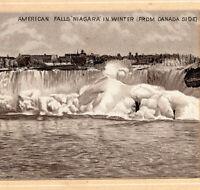 Niagara Falls 1890's Hotel Photo-Litho old Jersey Coffee Advertising Trade Card