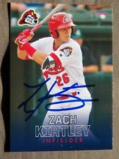 St Louis Cardinals Zach Kirtley Signed 2018 Peoria Chiefs Auto Card