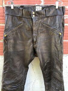 "Langlitz Leather Motorcycle Riding Pants  38"" x 32"" Large"