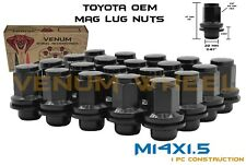 20pc M14x1.5 OEM Toyota Lexus Tundra Sequoia Land Cruiser Black Mag Lug Nut Kit