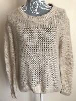 Dorothy Perkins Womens Jumper Size 14 Beige Long Sleeved Crew Neck Acrylic
