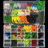 301pcs/set Simulation Fishing Tackle Kit Box Hooks Lures Baits parts Full Loaded