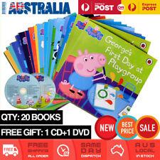 NEW 20 x Peppa Pig By Ladybird Story Book Set Bulk Pack Free Gift 1x CD & 1x DVD