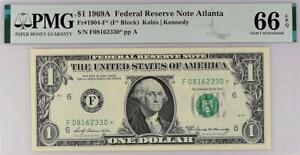 1969a* $1 Atlanta Federal Reserve STAR Note FRN 1904-F* PMG 66 EPQ • POP 5/1