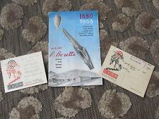 Vintage 1953 Beretta Firearms Gun Catalog Brochure + Frinchillucci Arms Postcard