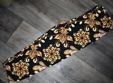 Plus Size Capri Black And Gold Leggings Buttery Soft Curvy 10-18 TC