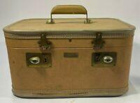 Vtg. Mid-Century JC Higgins Cosmetic Vanity Mirrored HardLuggage Carry On W/Keys