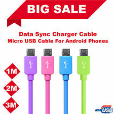 1M 2M 3M Long USB 2.0 A to MICRO USB Cable Data Sync and Charging Charger Lead