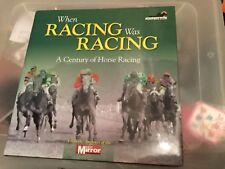 When Horse Racing Was Horse Racing