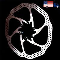 160/180mm MTB Bike 6 Bolts Disc Brake Rotor Bicycle PM/IS Adapter Caliper Brake