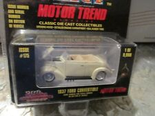 """1937 Ford CONVERTIBLE Cream color  Racing Champions mint 1:58 Scale 3.25"""" 9,998"""