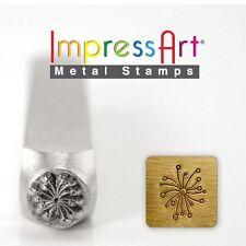 Large 9.5mm Dandelion Metal Design Stamp By Impressart Metal Jewelry Punch