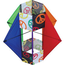 "Kite, Six Wing Peace Design Single Line Box Kite 30"" x 36""..14..... PR 11032"