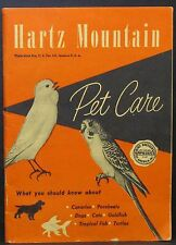 1940's Hartz Mountain Pet Care Product Catalog BUDGIES Parrakeet AQUARIUM