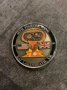 statue of liberty 48th Fighter Wing Challenge Coin