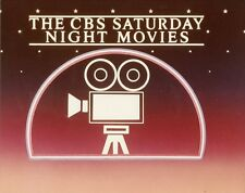 THE CBS SATURDAY NIGHT MOVIES LOGO ORIGINAL 1981 CBS TV PHOTO BILLBOARD