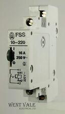 Moeller FSS 10-220 - 16ax 220vac Relé de impulso de enganche de un polo Bobina Usado