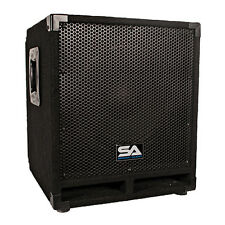 "Seismic Audio - Powered 12"" Pro Audio Subwoofer Cabinet - PA / Band / DJ / KJ"