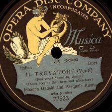 "JOHANNA GADSKI & PASQUALE AMATO  ""Il Trovatore""  Qual voce! come! tu, dennaG2290"