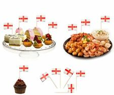 100 St George Sandwich Party Flag Food Cake Cheese Cocktail Stick Picks England