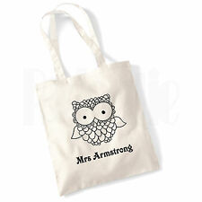Personalised 'Owl Teacher' Canvas Tote Bag- GIFT FOR THANK YOU TEACHER