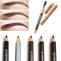Waterproof Eye Brow Black Brown Eyebrow Beauty Pen Pencil With Brush Makeup Tool