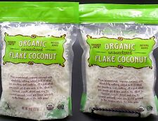 1 LB Organic Unsweetened Flake Coconut Trader Joe's Nothing Added 2- 8oz Bags🌺