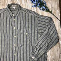 VTG Giorgio Armani Collezioni Long Sleeve Shirt - Mens S - 100% Rayon ITALY