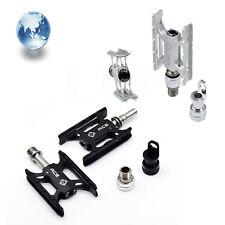 Titanium Axles Ultralight CNC Pedals For Brompton Foldable Bike MKS Black Silver