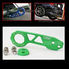 JDM Green Universal Anodized Aluminum Rear Racing Tow Towing Trailer Hook