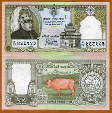 Nepal, 25 Rupees, ND (1997), P-41, UNC > King Birendra Commemorative
