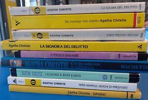 Lotto 9 volumi Agatha Christie Oscar Mondadori 1984/2003