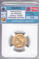 NAPOLÉON I 20 FRANCS 1808.A PARIS OR/GOLD