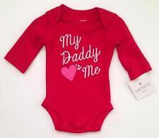 Nwt Carter'S Bodysuit Newborn Baby My Daddy Hearts Me