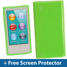 Green Glossy TPU Gel Case for New Apple iPod Nano 7th Generation 7G Cover Shell