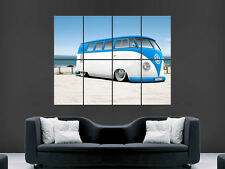 VW Camper Van Bus classico Muro Art Immagine grande POSTER GIGANTE