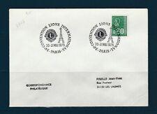 FRd  enveloppe  Lions  24e convention internationale 75 Paris 1975