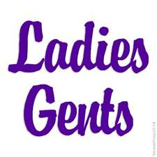 Ladies Gents Decal Sticker Choose Color + Large Size #lg2549