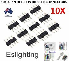 10X  4 PIN RGB LED STRIP LIGHT CONTROLLER CONNECTOR CONNECTION ADAPTER 3528 5050