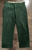 Vintage JOHNSON WOOLEN MILLS Famous Spruce Green Wool Hunting Pants Mens 36x30