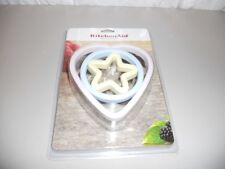 KitchenAid cookie cutters (heart, circle and star) new