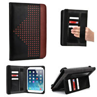 Universal Folio Tablet Case with Card and Hand Strap for 6 to 8 Inch Tablets