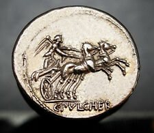 Caius Claudius Pulcher. Mint state⭐️Denarius Exceptional Roman Silver denarius.