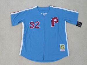 Philadelphia PHILLIES Legend 'LEFTY' #32 CARLTON Stitch Retro Jersey Men L NEW^