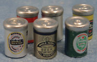 Dolls House Miniature 1/12th Scale Set of 6 Beer Cans D644