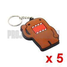 5 x Domo Rubber PVC Keychain Key Chain Domokun Kun NHK TV Mascot Japan Licensed