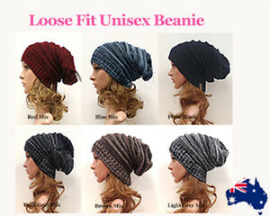 Vintage Style Long Beanie (extra long size) Unisex Baggy Winter Hat Loose fit